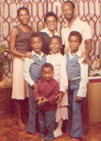 Daddy and us kids - young