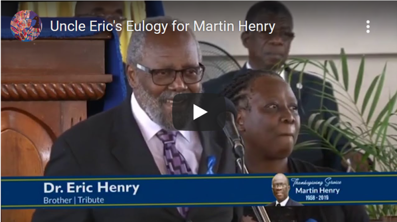 Picture of eulogy for uncle martin